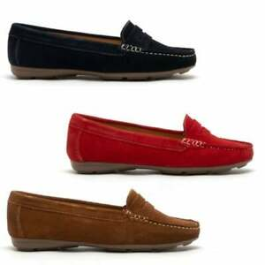 Hush-Puppies-MARGOT-Ladies-Womens-Casual-Slip-On-Breathable-Suede-Loafers-Shoes