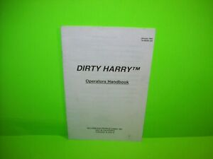 Dirty-Harry-Pinball-Machine-Mini-Handbook-Williams-Original-1995-Game-Booklet