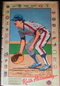 Old-80-039-s-NY-Daily-News-full-page-illustration-of-NY-Mets-MLB-HOF-Keith-Hernandez