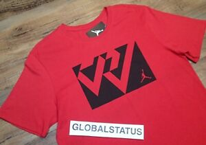 separation shoes cheap price best place Details about NIKE AIR JORDAN RW RUSSELL WESTBROOK BOX LOGO RED BLACK SHIRT  AR6198 687 XL