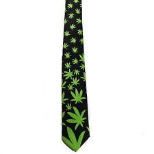 "Men Boy Unisex Mary Jane Weed Style Skinny Slim Retro Tie 2.5"" Wide Thin Necktie"