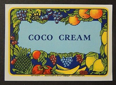 Advertising Merchandise & Memorabilia Honest Coco Creme Alcohol Label Circa 1920's Bind3#02 Aromatic Character And Agreeable Taste