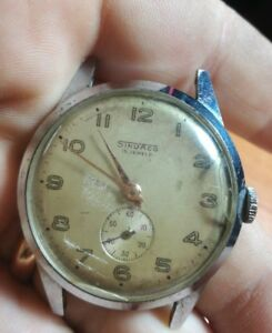 SINDACO-watch-Swiss-Made-15-jewels-carica-manuale-vintage-NOT-RUNNING