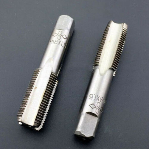Equipment Tap M18x1.5mm Replacement 2Pcs Metalworking High-Speed Steel