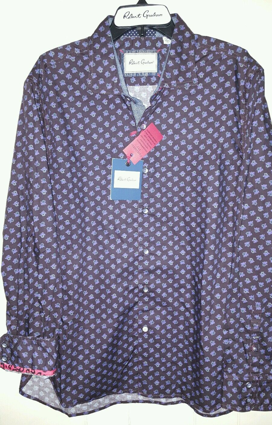 Robert Graham McNair Button-Front Long Sleeve Shirt  XL (NWT)