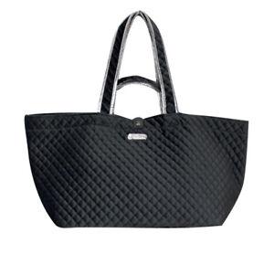 Details zu Original brasi&brasi HALF&QUILTED XL Shopper, gesteppte Samt Tasche (SchwarzSil