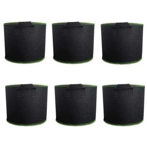 6 Pack Grow Bags 7 gallons Potato Vegetables Carrot Onion Fabric Planting Pots