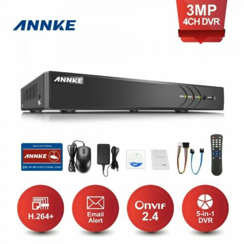 ANNKE 4CH 3MP Digital Video Recoder Überwachungssystem 5 in 1 DVR