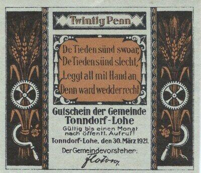 27 NOTGELD GERMANY 10 Pfennig XF Emergency Local Currency Blotho ad Wefer 1921