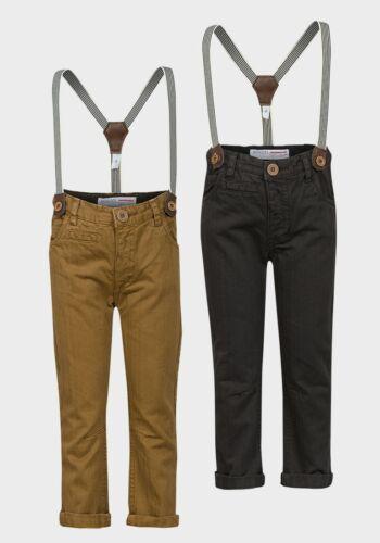 Minioti Boys Trousers with retro braces