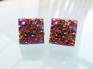 Sparkly Square Zircon Stud Earrings For Women Bijoux Classic New ...
