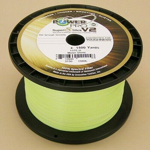 Power Pro Super Slick V2 Braided Fishing Line 65lb Test 1500 Yd Moonshine 65#