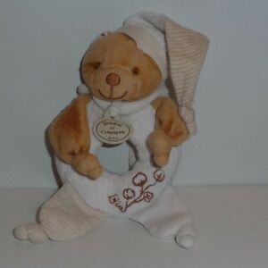 Doudou Ours Hochet Doudou et Compagnie- Collection Bio