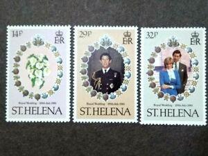 1981 St. Helena Royal Visit Prince Charles Princess Diana Complete Set - 3v MNH