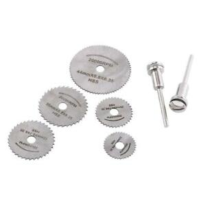 HSS-Circular-Saw-Blades-Disc-Rotary-Cutter-Tool-for-Wood-Metal-Cutting-w-2-Rods