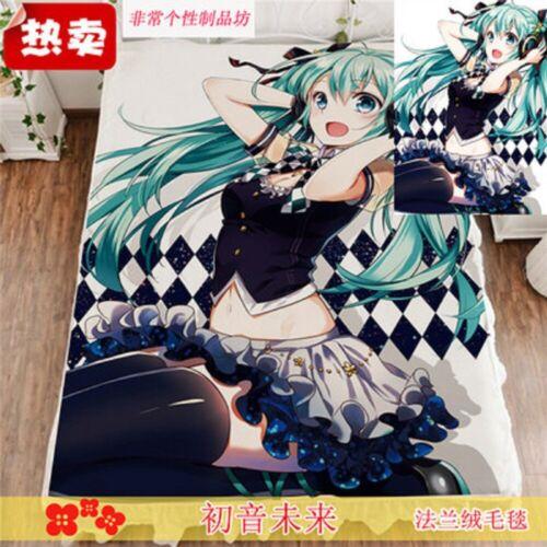 Japan Anime Hatsune Miku Air Conditioning Blanket Cartoon Nap Blanket Bed Sheet