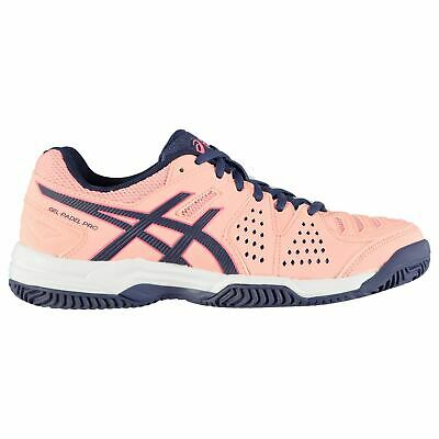Asics Gel Padel Pro 3 Sg Tennis Shoes Ladies Laces Fastened Padded Ankle Collar