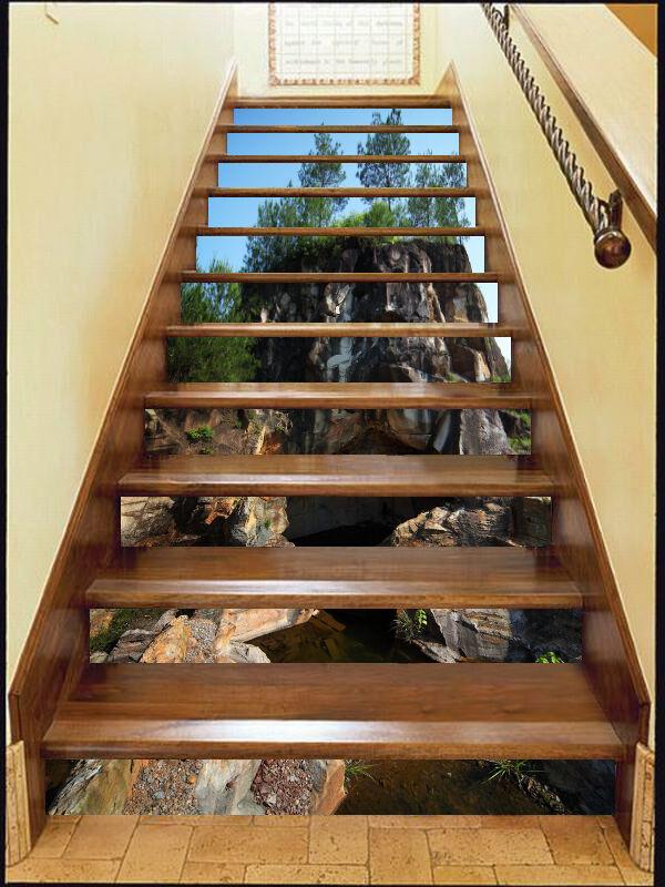 3d Pierre 3565 Stair Risers Décoration Papier Peint Vinyle Autocollant Papier Peint De