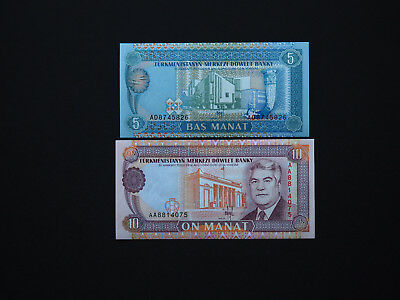 Top Quality   Mint UNC 1 and 3 Somoni TAJIKISTAN BANKNOTES SET OF TWO