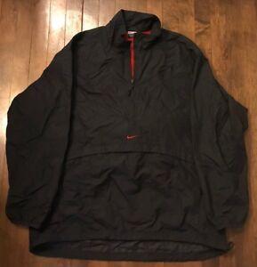 5eb9bf04de1d8 Nike Vintage 90s 1/2 Zip Pullover Running Runner Windbreaker Jacket ...