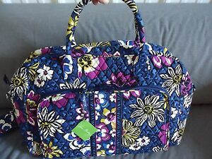 d9521569bc Image is loading Vera-Bradley-African-Violet-Weekender-Travel-Bag-new-