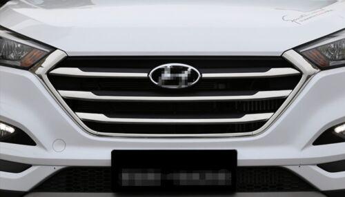 6PCS Chrome Front Center Grille Cover Trim For Hyundai Tucson 2015 2016 2017