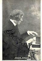 Original AUTOGRAPH,Signiture,Hungarian Pianist Adolphe Borschke,Old Postcard