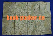 Alte Landkarte (Papier auf Leinen, ca. 1920): COLMAR / BREISACH