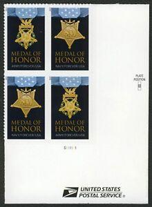 #4823c Medalla de Honor: Guerra Mundial II, Placa Bloque [ LR ] Cualquier 5=