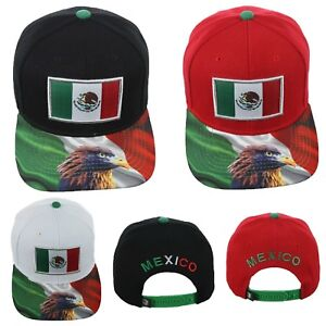 Baseball Cap Mexican Flag Mexico Eagle Hat Snapback Solid Hats