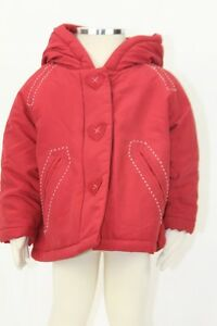 Clothing, Shoes & Accessories Rational Jacadi Girl's Requete Ruby Red Parka Jacket With Hood Size 6 Months Nwt $88 A Plastic Case Is Compartmentalized For Safe Storage