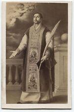 ANTIQUE CDV PHOTO OF PAINTING RELIGIOUS FIGURE BY BARTOLOME ESTEBAN MURILLO