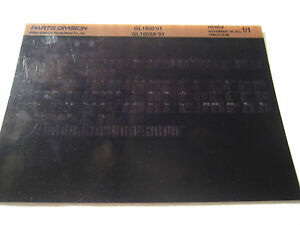 2001 Honda Motorcycle GL1800 GL1800A Microfiche PartS Catalog GL 1800 A