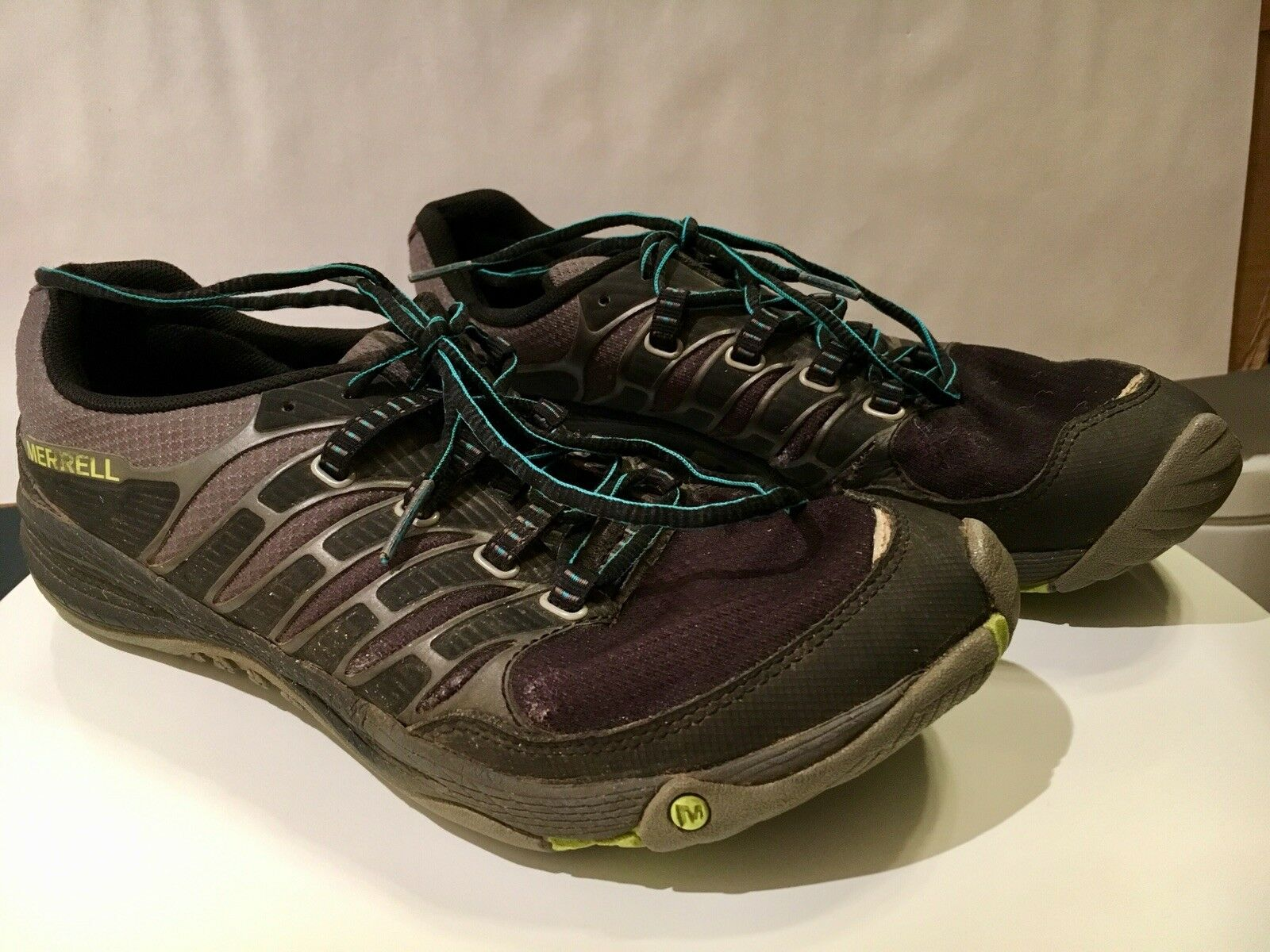 Merrell All Out Lime Fuse Trail Running Hike Men Black Lime Out Size 8 f5c579