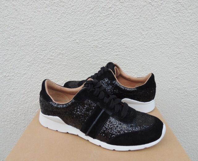 UGG Jaida Black Glitter Suede/ Leather