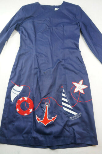 Vintage 1980s Go Vicki Womens 5/6 Blue Nautical Sh