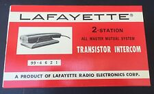Vintage Lafayette Intercom Model 99-4621 NEW IN BOX wired?