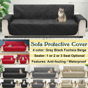 1-3 Seats Sofa Slip Cover Protector  Dog Cat Pet Waterproof  Quilted Cushion