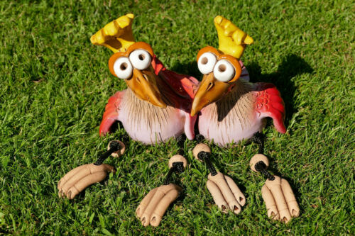 paar,keramik,garten,zwilling,wetterfest,vogel,gartenstecker,kantenhocker,pärchen