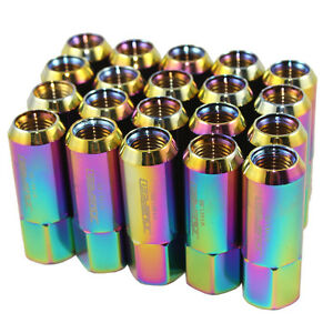 M14X1-5MM-ALUMINUM-TUNER-RACING-EXTENDED-FORGED-60M-LUG-NUTS-20PC-NEO-CHROME