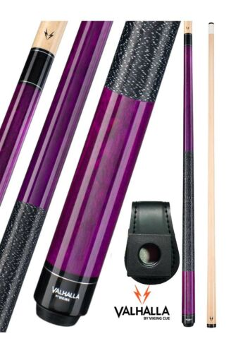 Valhalla Viking VA117 Purple Pool Cue Stick Linen 16-21 oz FREE Chalk Holder
