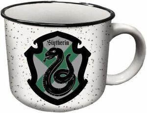 Harry Potter Slytherin Crest Ceramic Campers Coffee Mug