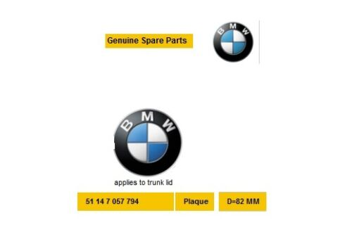 Nuevo Genuino BMW E81 E87 F07 F10 F11 E63 E64 F06 F12 BMW Emblema 51147057794
