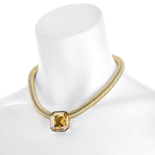 Gold Silver Fashion Statement Necklace Crystal Chunky Choker Bib Pendant Chain