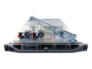 Dell-PowerEdge-R620-10-Port-2x-E5-2630-H710P-2x-Trays-Rails-Bezel-256GB