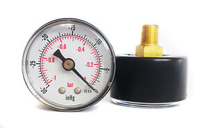 Vacuum-Gauge-30-Hg-amp-1-0-Bar-40mm-Dial-1-8-BSPT-back-connection