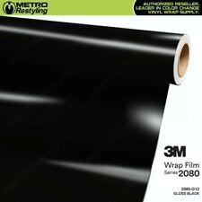3M 2080 Series GLOSS BLACK Vinyl Vehicle Car Wrap Decal Film Roll G12