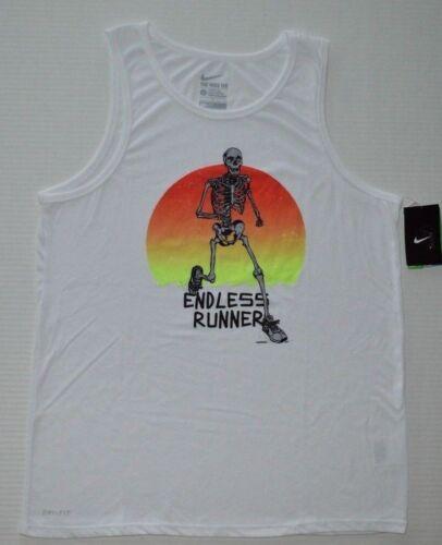 Men/'s The Nike Tee Dri-Fit Athletic Cut Tri-Blend Running Tank Top