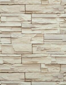 Wallpaper-Faux-Stacked-Stone-Brick-Rock-Tan-Beige-Heavy-Duty-Textured-Vinyl