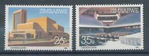 100% De Qualité 238337) Le Zimbabwe Nº 338-9 ** Harare-centre De Conférence-nzzentrumfr-fr Afficher Le Titre D'origine Nettoyage De La Cavité Buccale.